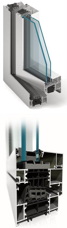 okna aluminiowe Aluprof MB86
